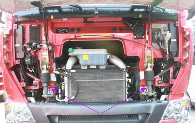 卡车挂车驾驶室改悬浮式空气悬挂